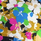 "Bright Mod Floral J Hanes Co Fabric Cotton/Blend VINTAGE FABRIC 2.77 Yd 40"" W"
