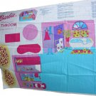 Springs Industries Barbie Fold N Go Bathroom Make-A-Room Collection Fabric Panel