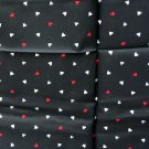 Kenmill Textile Corp Black Triangle Dot Nylon Blend VINTAGE FABRIC 2 Yd 60 W