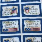 Daisy Kingdom 4783 Let Freedom Ring Patch Beth Yarborough Cotton Fabric 2.94 Yd