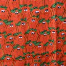 "Silly Smiling Pumpkins Cotton FABRIC 2 Yd 42""W"