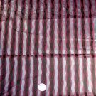 Japanese Kimono Grey Stripe Silk Panel-VINTAGE FABRIC 44 x 14 Inches