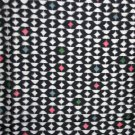 Japanese Meisen Kimono Silk Black & White Pattern Pastel VINTAGE FABRIC 120 x 14 Inches