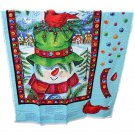 Springs Creative Group Happy Snowman Hanging Panel Cotton Fabric