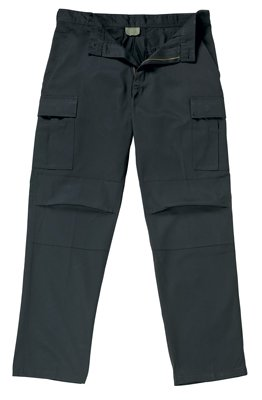 5774 ULTRA FORCE ZIP FLY BLACK BDU PANTS 2XL - LONG