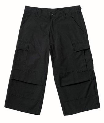 8351 ULTRA FORCE BLACK CAPRI PANTS SMALL