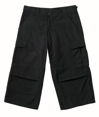 8351 ULTRA FORCE BLACK CAPRI PANTS XLARGE