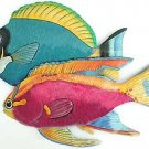 BLUE SURGEONFISH & LONGFIN ANTHIAS METAL WALL ART