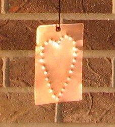 Wind Chimes Copper Cedar Tuned 36 inch Heart Sail Handmade by 1733 Shoppe