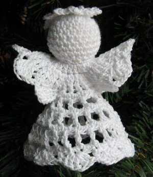 Crochet Angel Christmas Ornament Post 1 4 Handmade By 1733