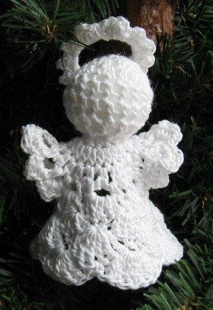 Crochet Angel Christmas Ornament Shell 1-4 Handmade by 1733 Shoppe