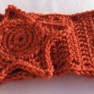 Headband Crochet Burnt Orange UPDown Star Ear Warmer Head Wrap B4