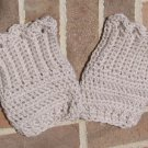 Crochet Boot Cuffs Scallop Edge Handmade Regular CD1