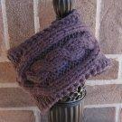 Headband Knit Cable Graphite Ear Warmer Head Wrap E2