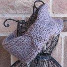 Headband Knit Turban Grey Knot Ear Warmer Head Wrap H1