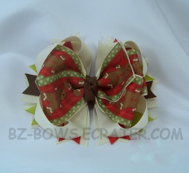 GINGERBREAD MAN BOUTIQUE BOW