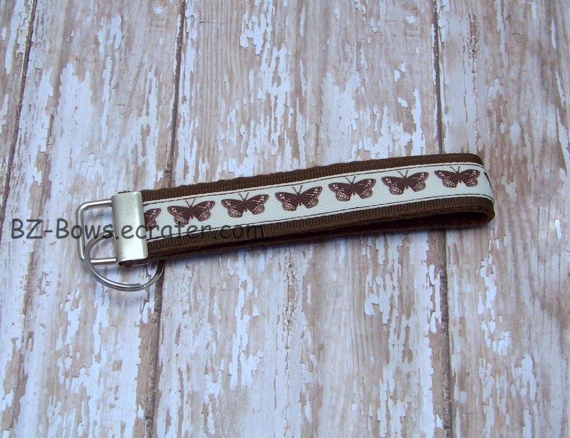 Butterflies Wristlet Key Fob