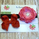 Infant to Toddler headband with flower and bow