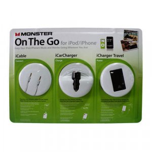 Monster Cable On-The-Go Kit Plus For your iPhone,iPod & USB Devices