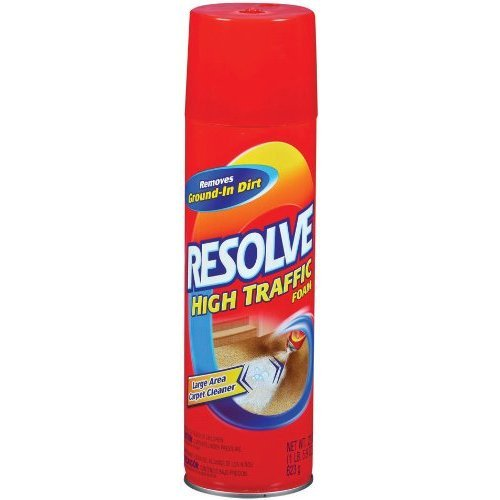 Resolve high traffic foam carpet cleaner 3pk for Best carpet for high traffic