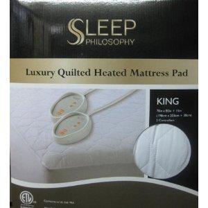 Sleep Philosophy King Luxury Quilted Heated Mattress Pad