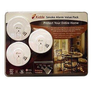 Kidde Smoke Detector 3Pk With Hush Button