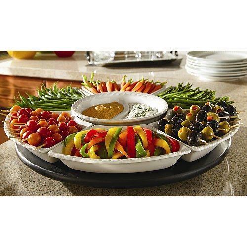 Party Server Large 8pc Lazy Susan Catering Buffet Server