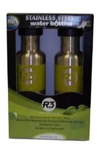 Cyclops Stainless Steel Water Bottles 2 Pack Light Green