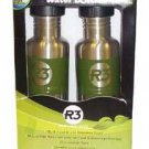 Cyclops Stainless Steel Water Bottles 2 Pack DARK GREEN