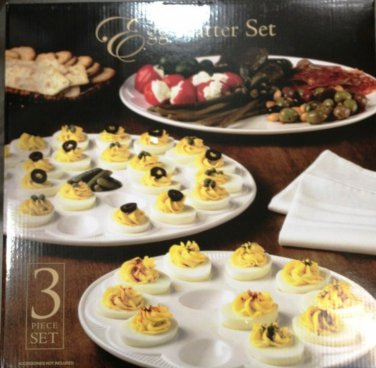 Egg Platter Serving Set 3 Pc.