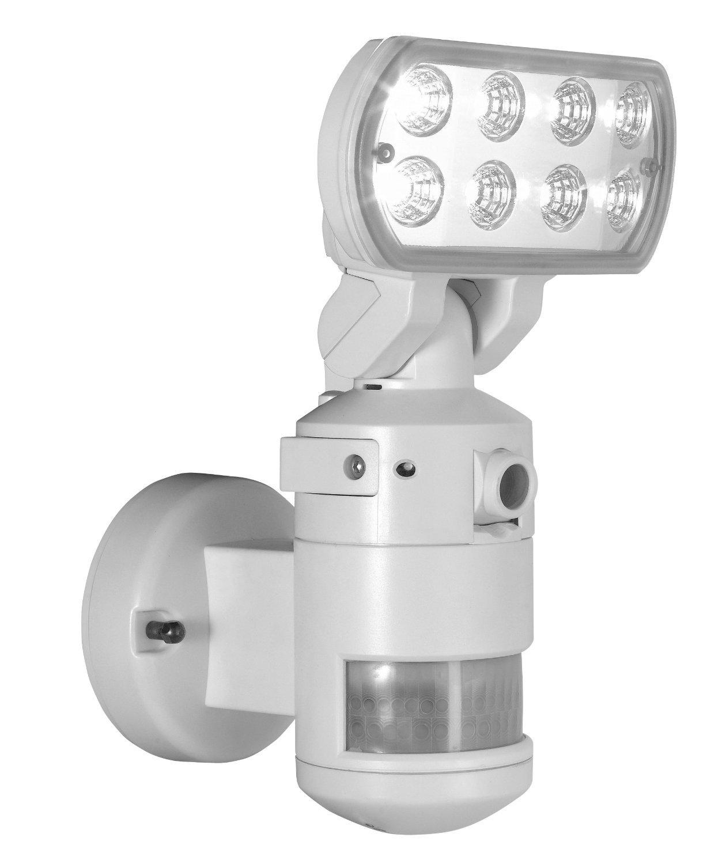 Led Flood Light With Night Sensor: NightWatcher Robotic LED Flood Light With Video Camera