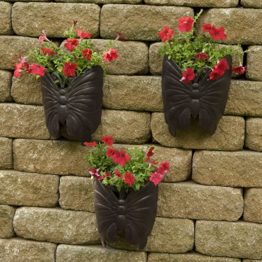 Planter Large Butterfly Metal Wall Planter 3pk