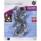 GE Halogen 4pk Dimmable Light Bulbs
