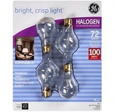 GE Halogen 4pk Dimmable Light Bulbs