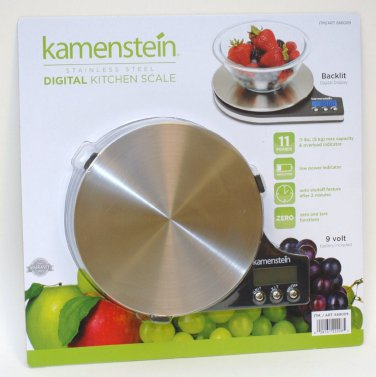 Kamenstein Digital Kitchen Scale Stainless