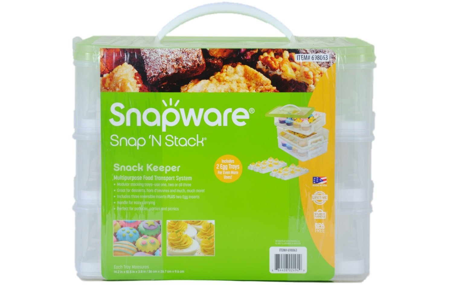 Baby Food Glass Storage Made In Usa Snap Lids