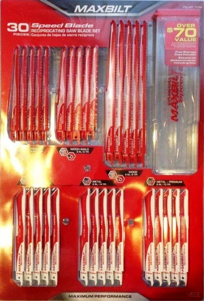 Maxbilt Reciprocating Saw Blade Set Professional Or Home Use