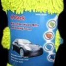 4 PK-Microfiber Chenille Wash Mitt Kit/ Wash Mitt & Three Plush Drying Towels