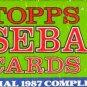 TOPPS 1987 SET