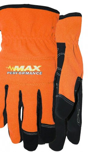 MAX PERFORMANCE GLOVE \ SIZE LARGE \ COLOR ORANGE