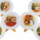 Dollhouse Miniature Kitchenware Little Red Riding Hood Plate x10 ** Free Shipping