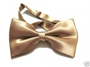 SILK BOWTIE GOLD Men Bow Tie Tuxedo Wedding Party Ball ** Free Shipping