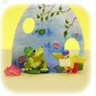 Re-ment Dollhouse Miniature Animal Figure Frog and Bird** Free Shipping
