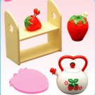 Re-ment Dollhouse Miniature Strawberry Tea Pot Shelf **Free Shipping