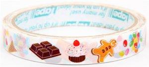 Ginger Bread Chocolate Cupcake Adhesive Sticker Tape 1.5 cm width x 25m long