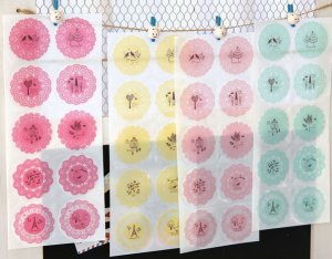 Korea Dress Up Adhesive Deco Sticker Lace Print (Any two sheets in random color)