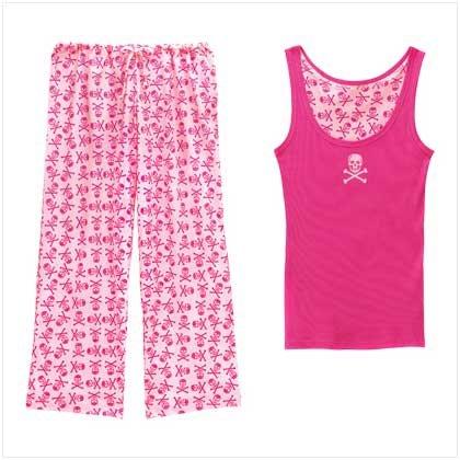 Pink Skull Lounge Wear