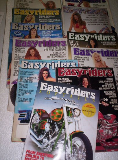12 Easyriders 1995 Easy rider Biker Magazine LOT + Bonus