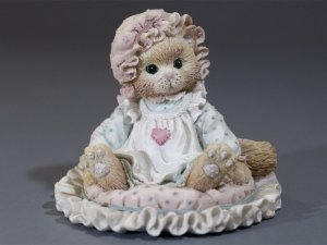 """Enesco Calico Kittens """"Just Thinking About You"""""""