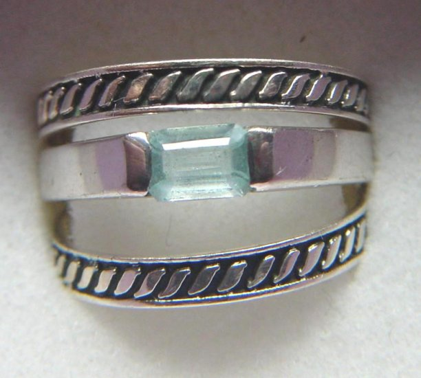 3 RING AQUAMARINE SET